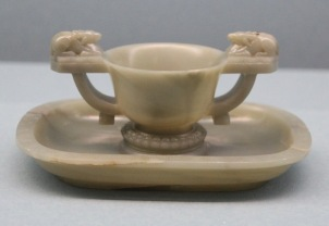 Jade cup and saucer